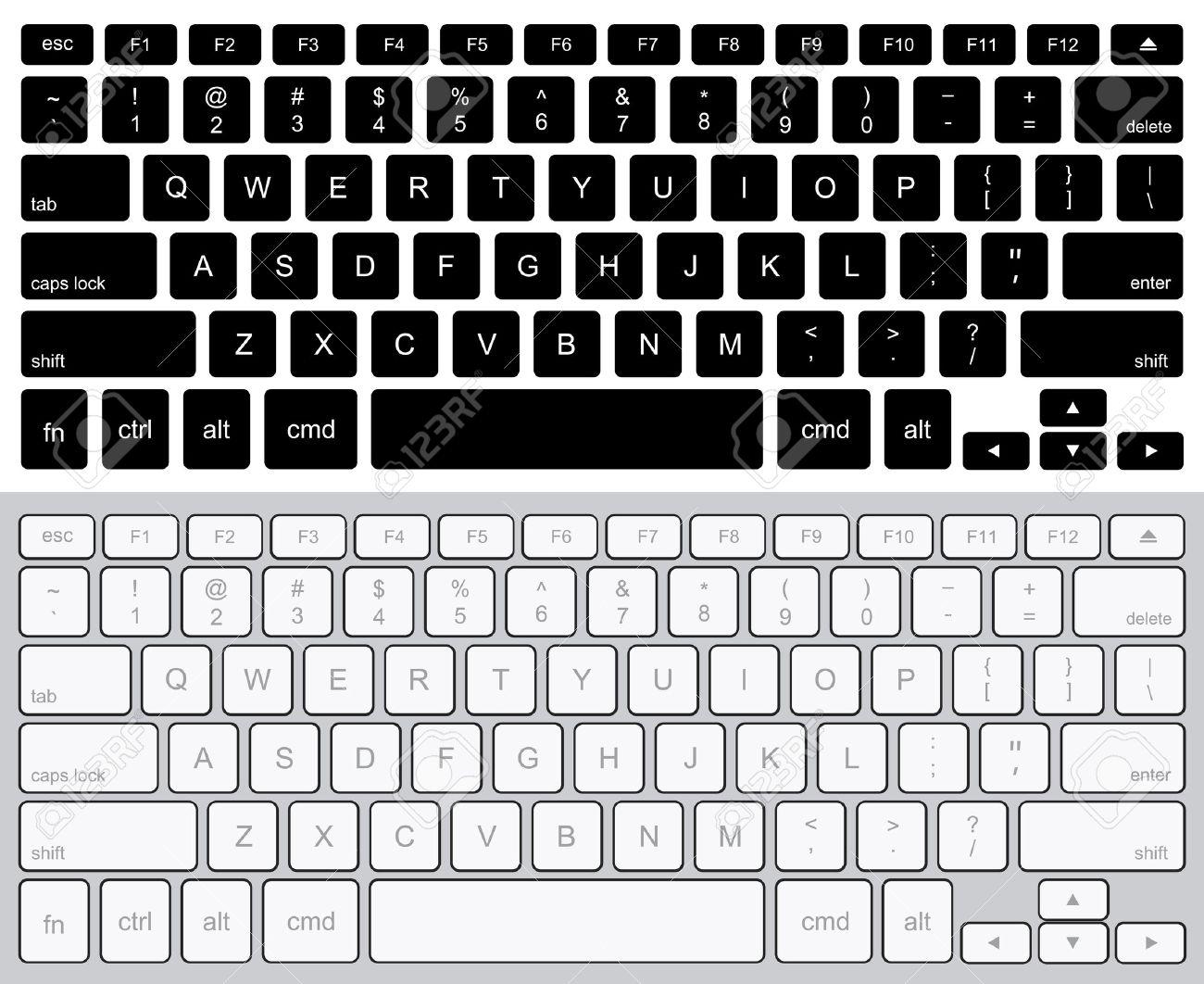 Vector modern computer keyboards background. technology design - 44104288