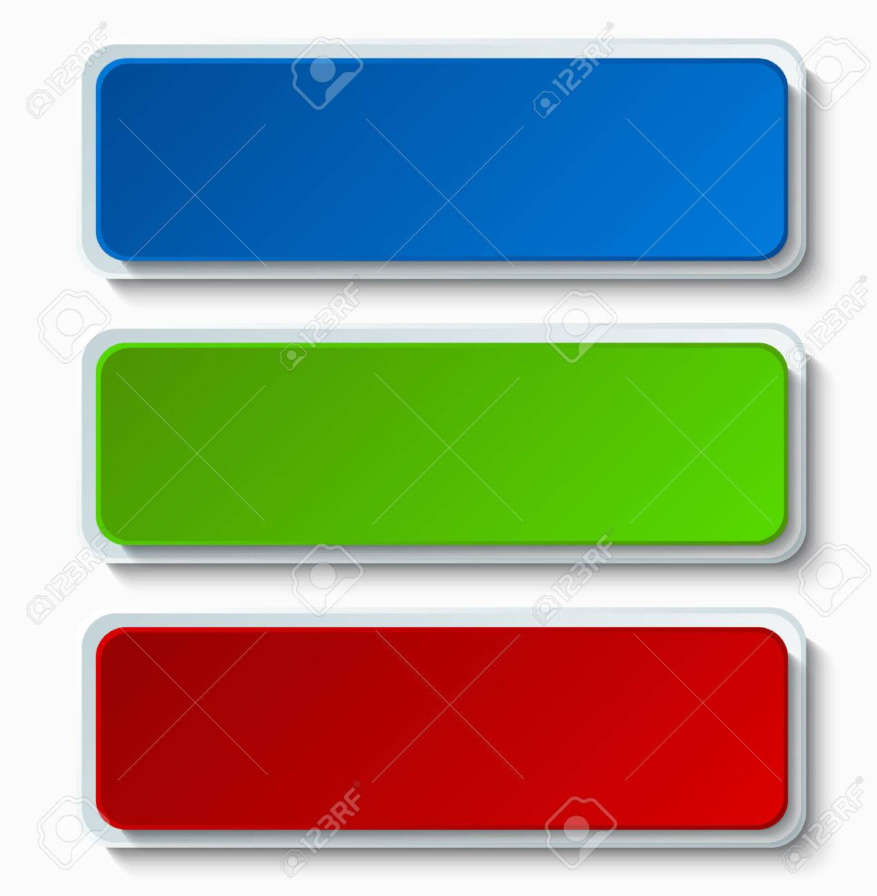 Vector modern colorful web buttons set on white background - 46645232