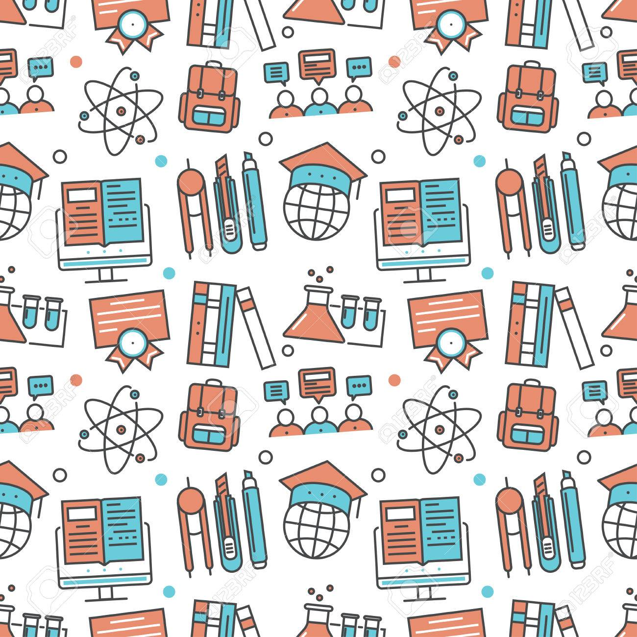 Vector Modern Seamless Pattern Texture Background Of Flat Online Royalty Free Cliparts Vectors And Stock Illustration Image 50589078