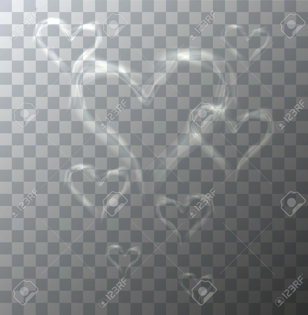 Vector modern heart from smoke on sample background. Eps10 - 50901957