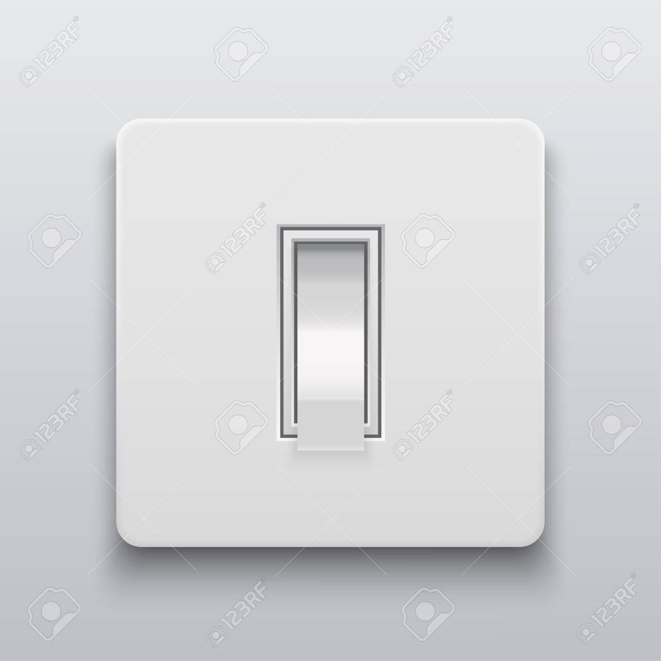 Modern Light Switches >> Vector Modern Light Switch Icon On Light Background Royalty Free