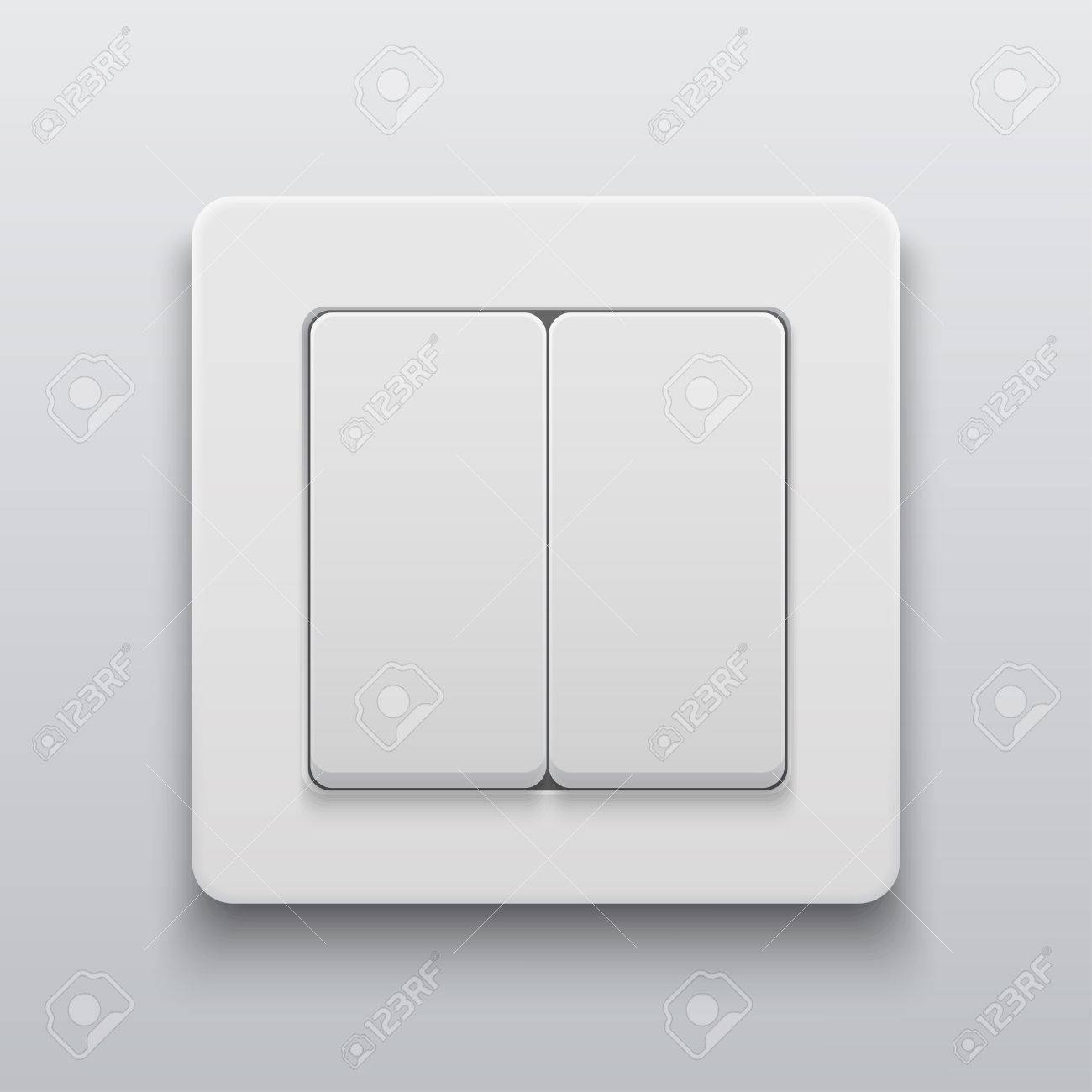 Vector vector modern light switch icon on light background