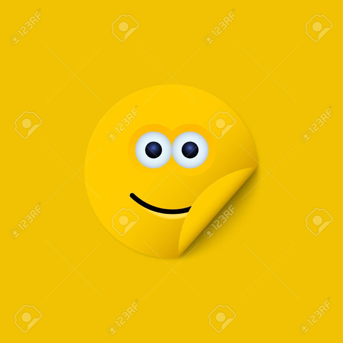 モダンな黄色い顔のベクトルのた...