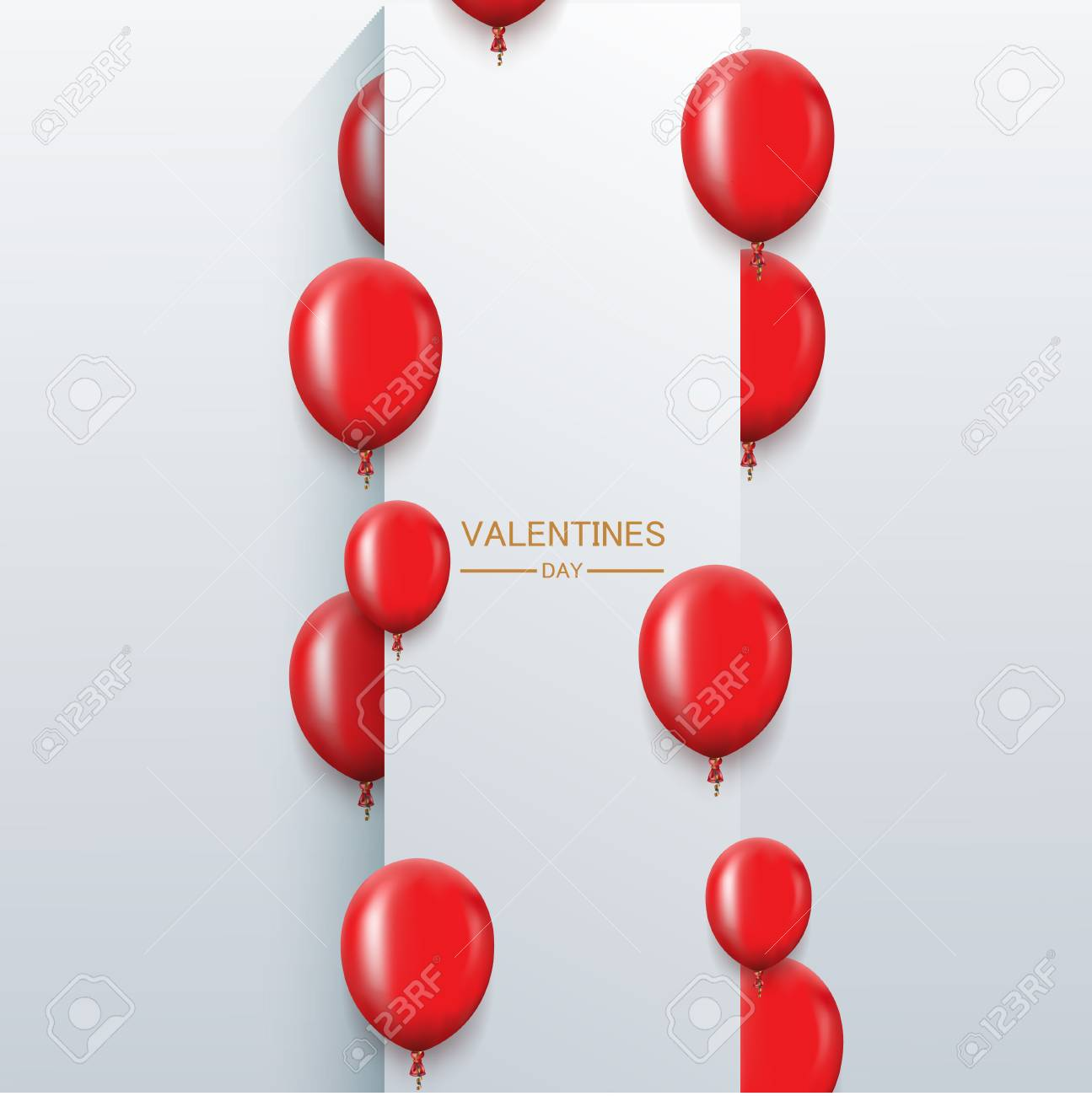 Vector Modern Red Balloons Background For Happy Birthday Or ...