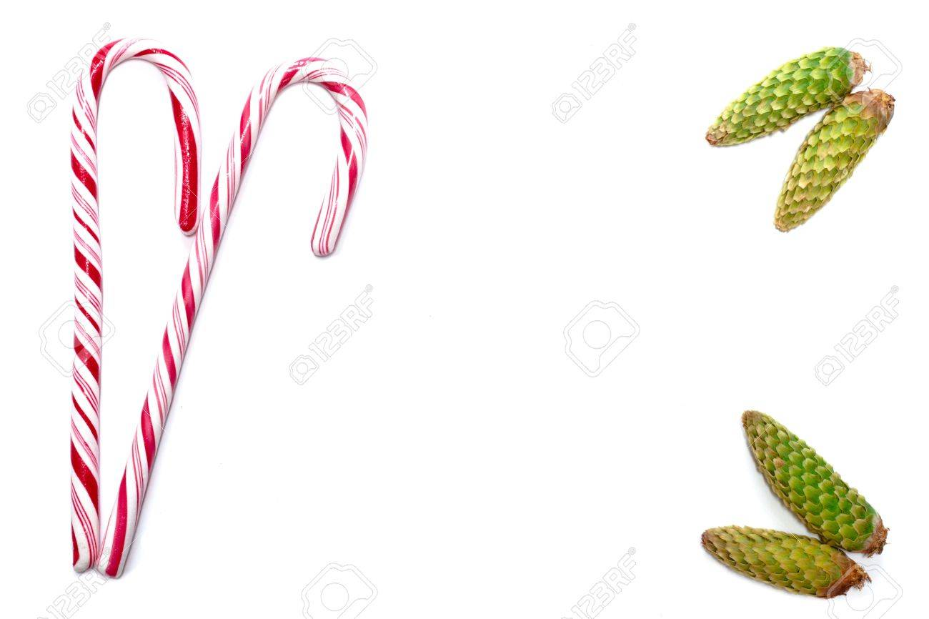 Christmas Template With Candy Canes And Pine Cones. This Could ...