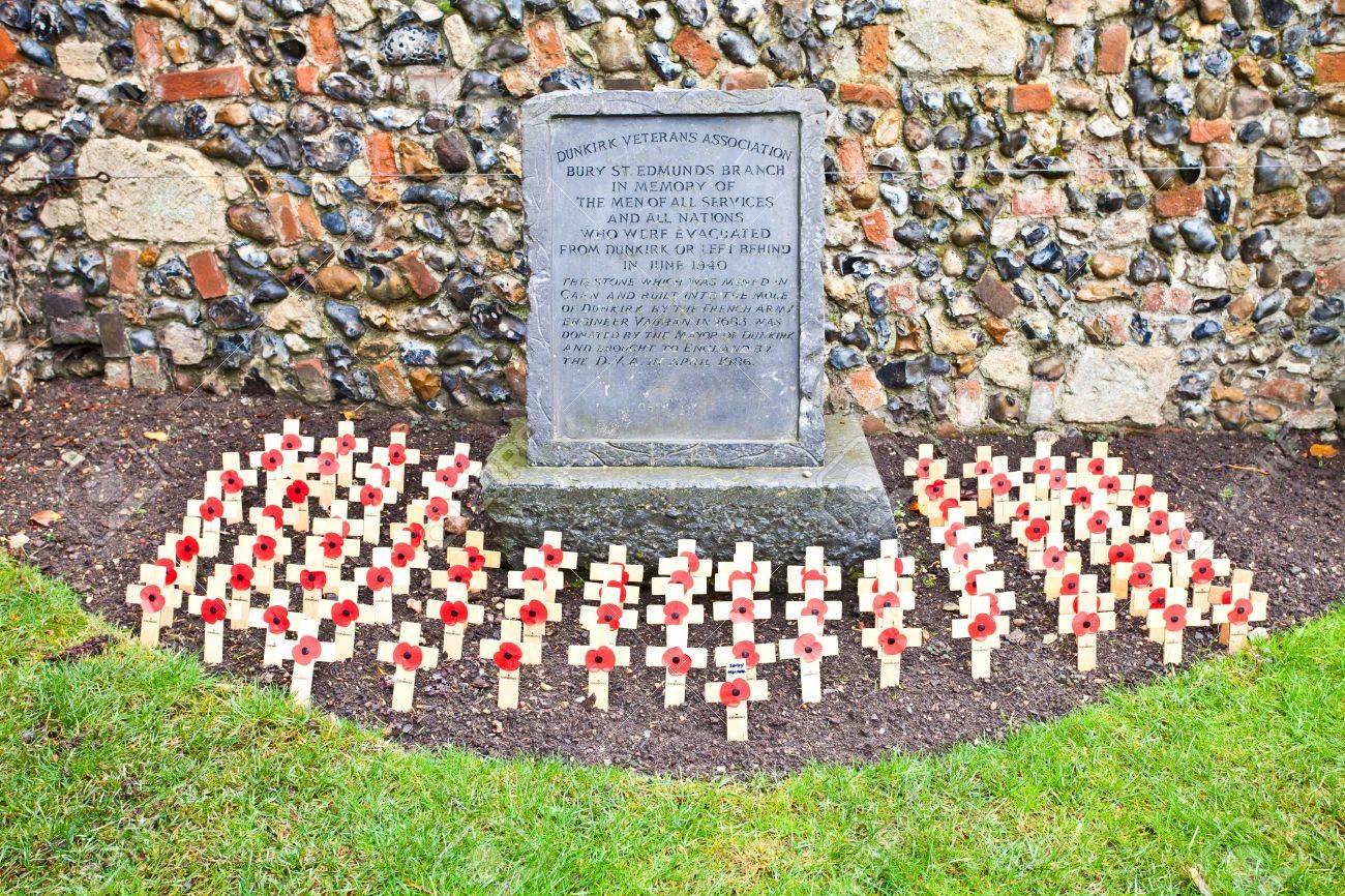 bury st edmunds uk november 5 2011 poppy crosses are arranged