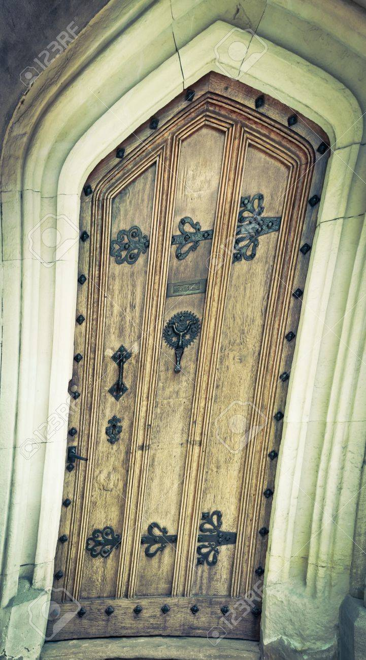 Warped Image Of A Mediveal Wooden Door Stock Photo, Picture And ...