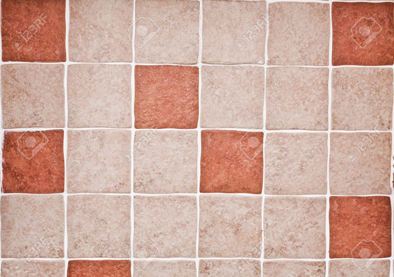 Orange And Beige Kitchen Tiles As A Background Stock Photo   24884490