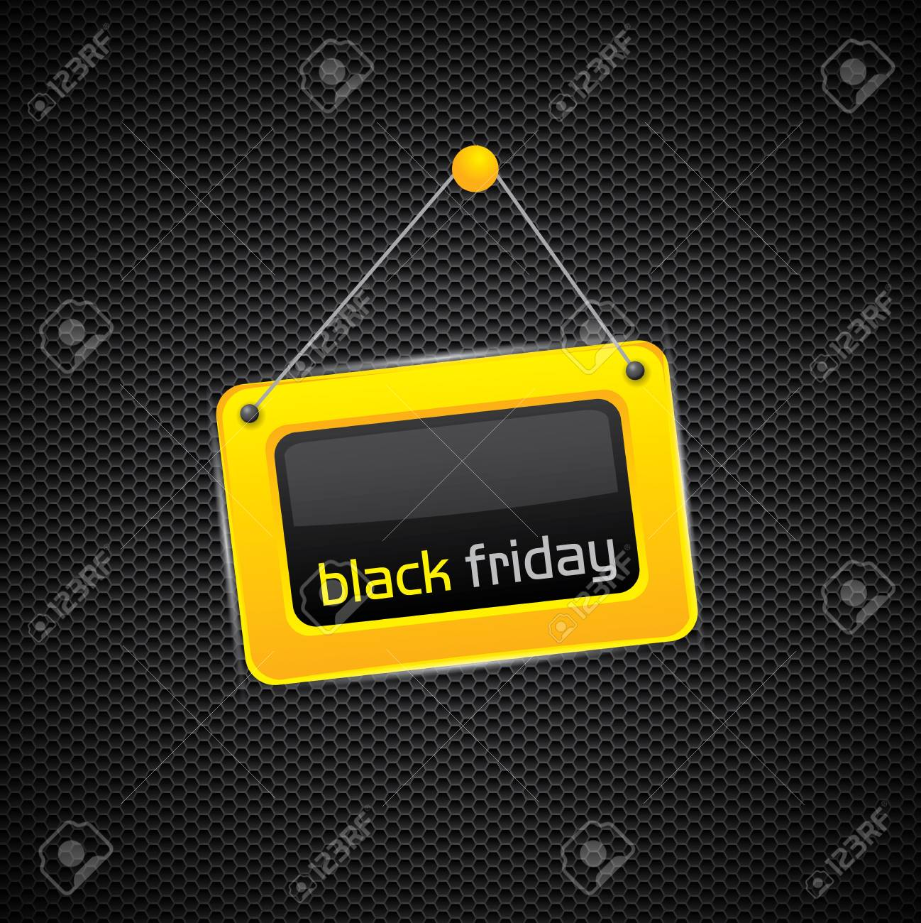 Black Friday glossy yellow sign Stock Vector - 16136269