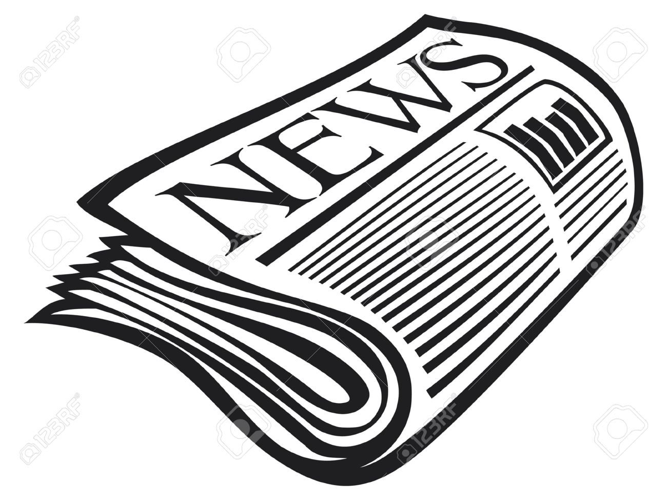 Newspaper Icon Royalty Free Cliparts Vectors And Stock