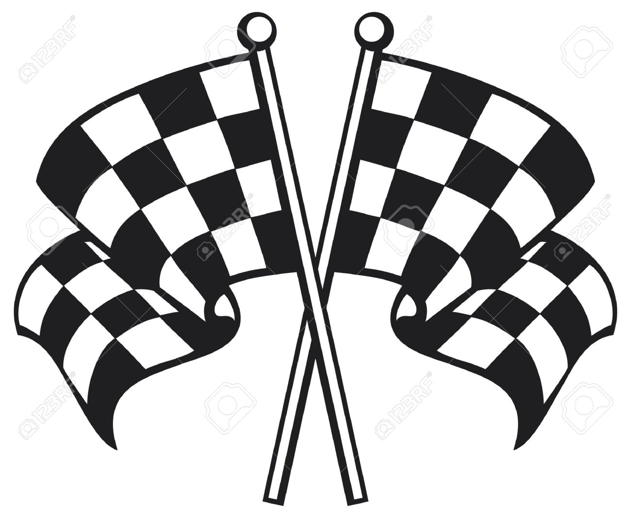 two crossed checkered flags racing checkered flag crossed rh 123rf com car racing flag vector racing flag vector png