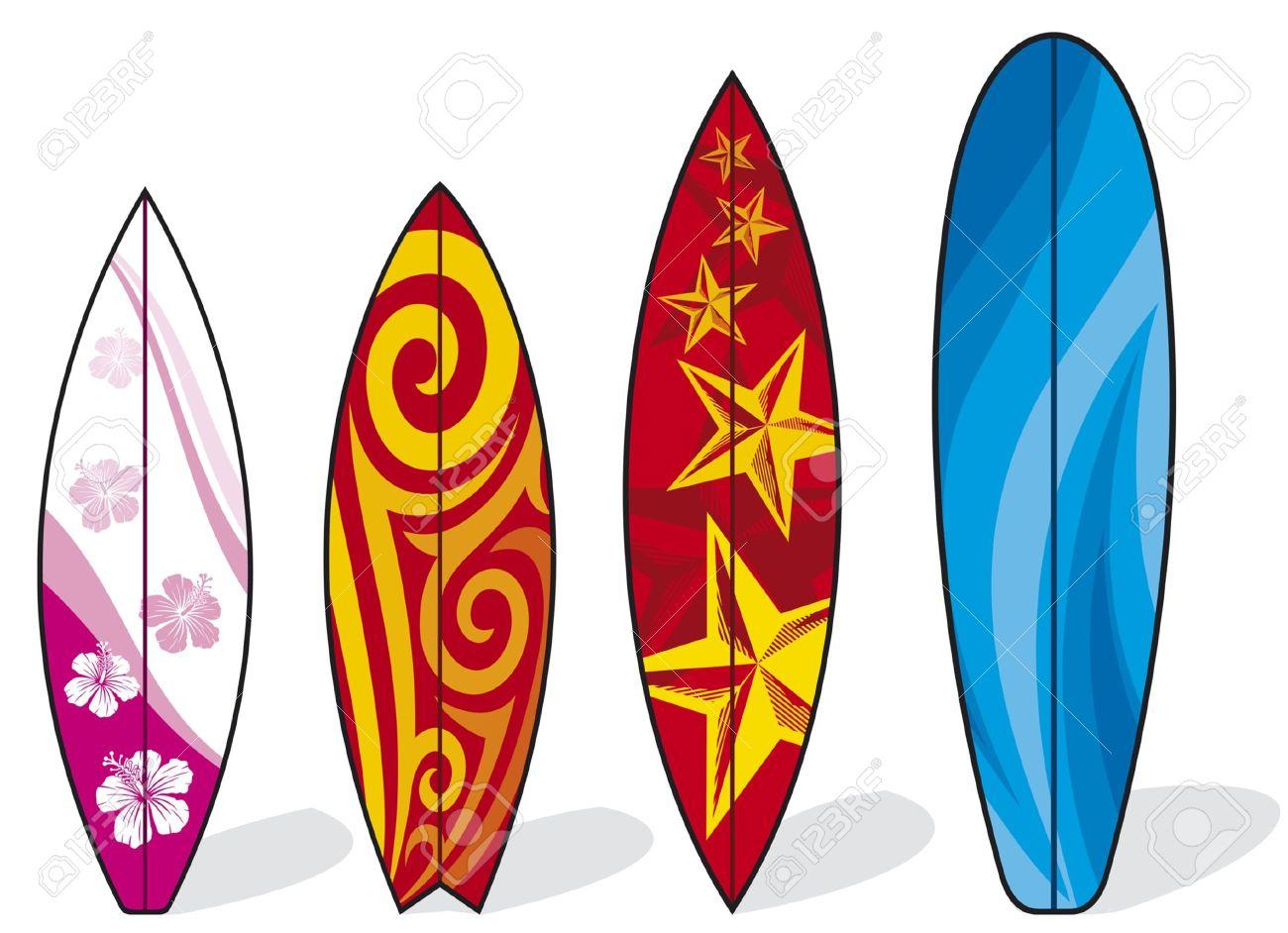 planche de surf ensemble de planches de surf planches de surf collection illustration
