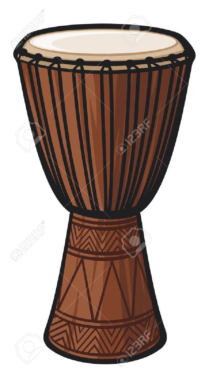 African Drum  Music Instrument Stock Vector - 14836368