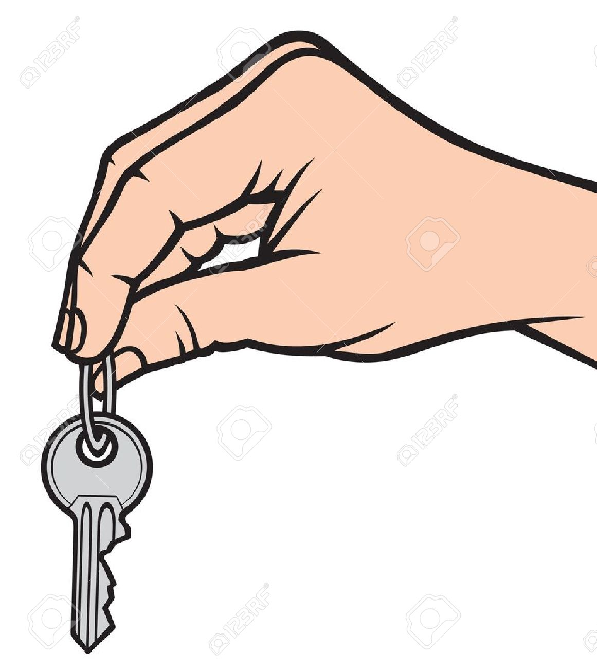 Image result for cartoon hand holding keys