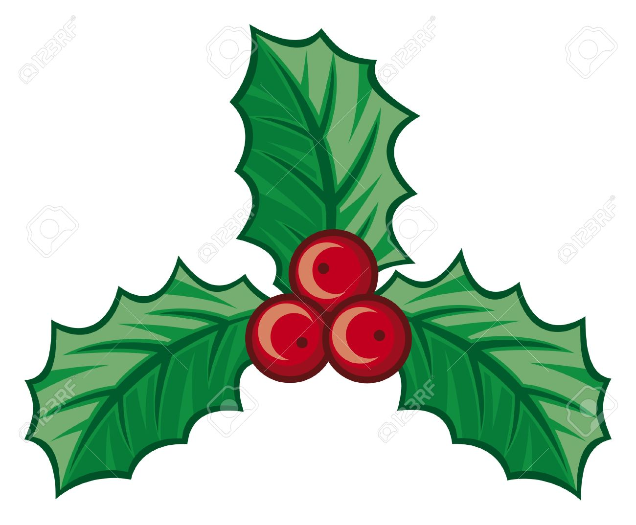 Why is holly a traditional christmas decoration - Christmas Holly Berry Symbol Christmas Decoration Isolated Holly With Berries Holly Berry Icon