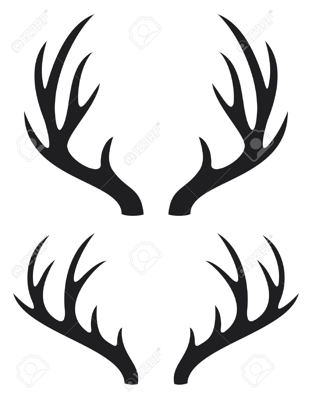 deer horns royalty free cliparts vectors and stock illustration rh 123rf com deer antlers vector free free deer antler vector images