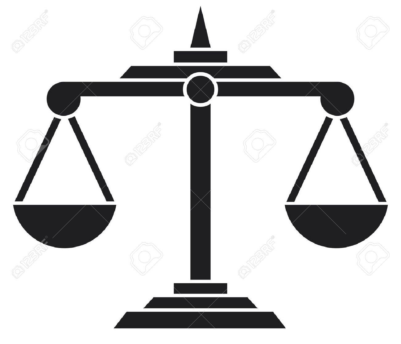 Scales Of Justice Symbol Royalty Fri Clipart Vektorer Och