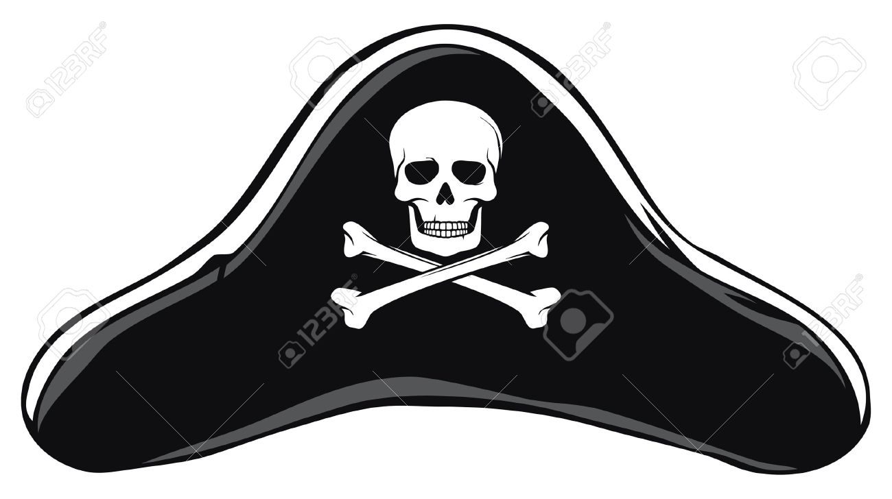 black pirate hat pirate s hat royalty free cliparts vectors and rh 123rf com pirate hat cartoon vector pirate hat vector art