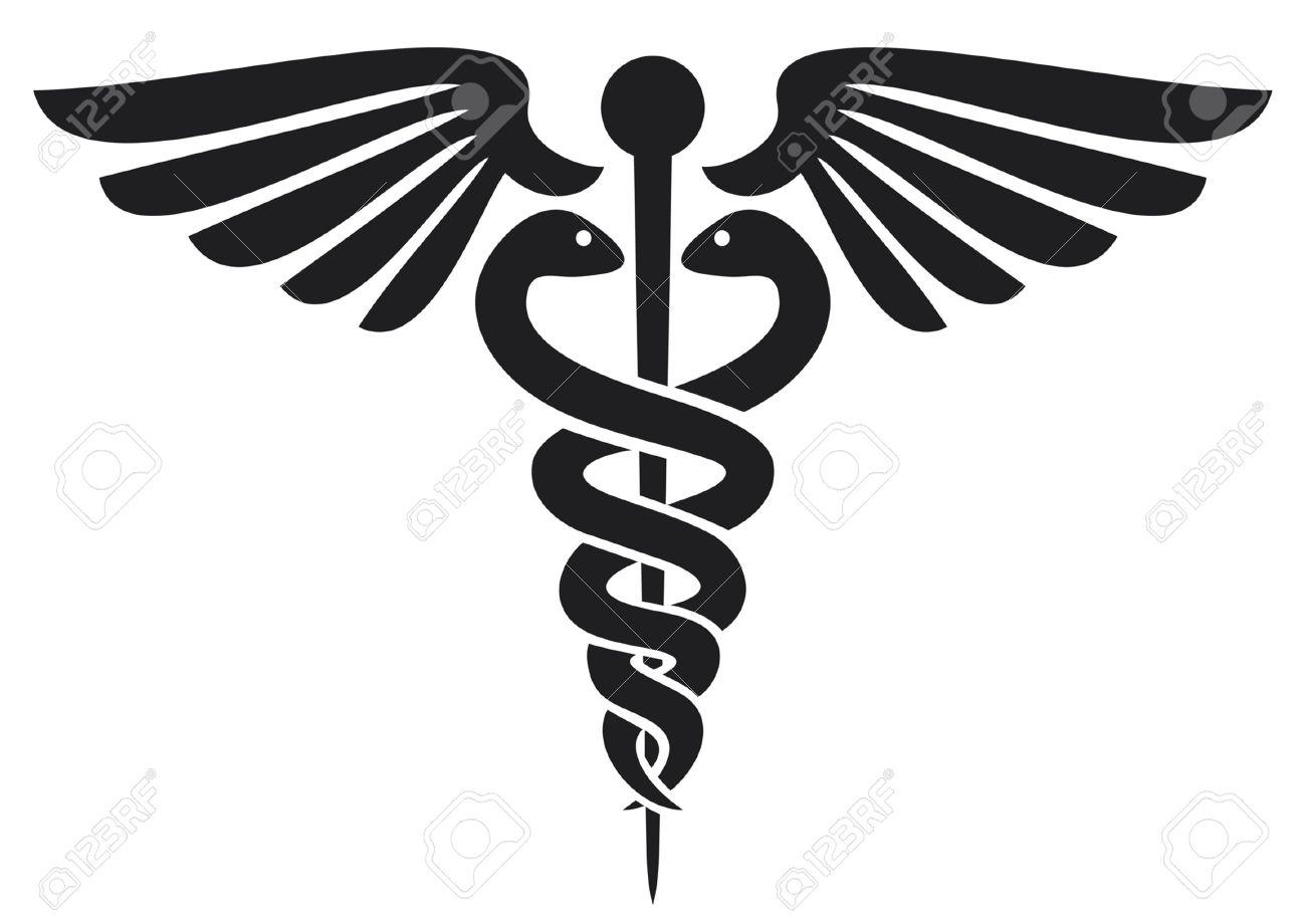 caduceus medical symbol  emblem for drugstore or medicine, medical sign, symbol of pharmacy, pharmacy snake symbol Stock Vector - 14965484