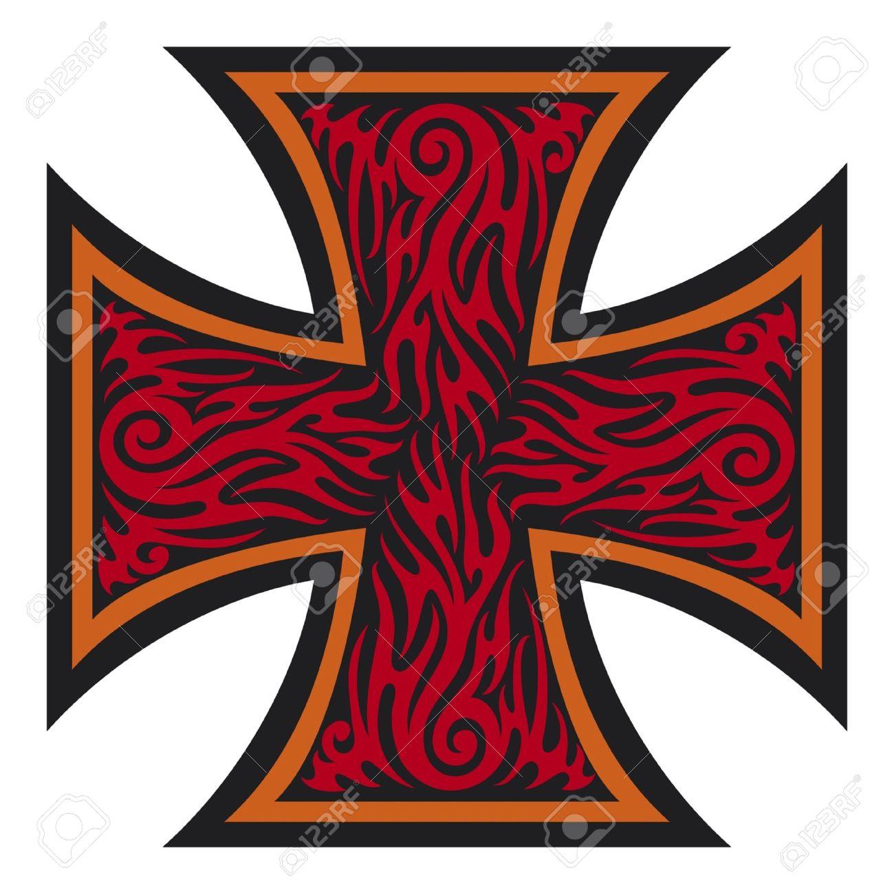 iron cross tattoo style  tribal style Stock Vector - 14973320