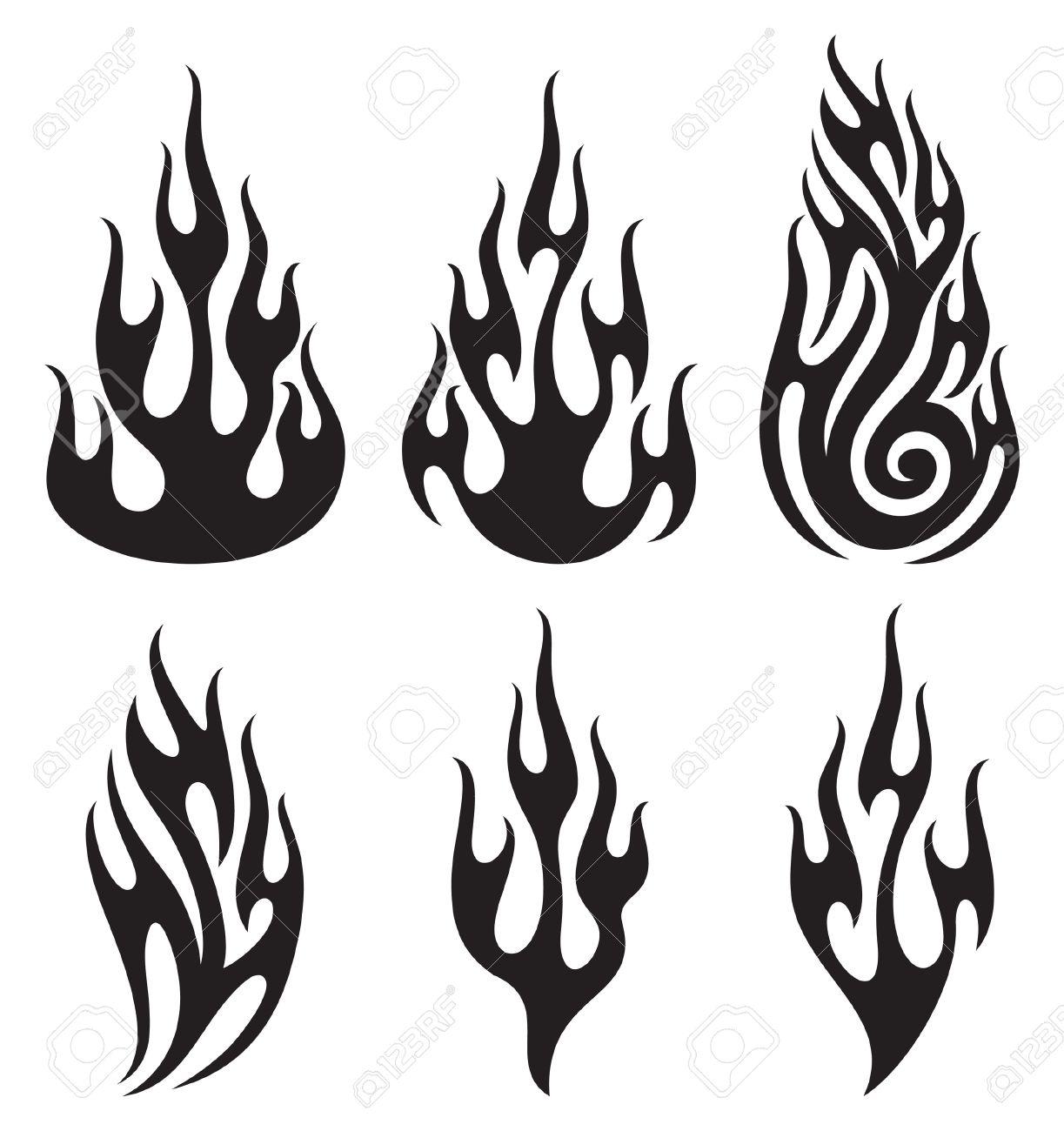 Set of vector flames Stock Vector - 14973454