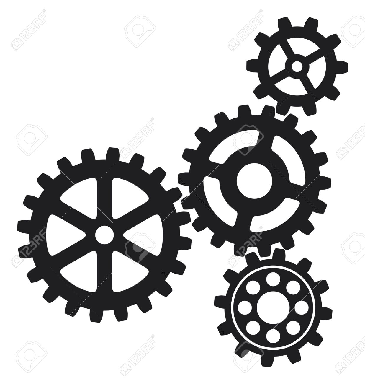 growing gears gear icon gears icon royalty free cliparts vectors