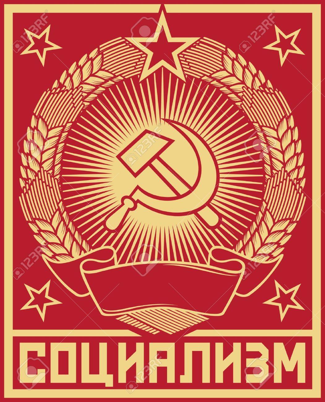 Socialism Poster Ussr Poster, Soviet Poster, Socialism Poster ...