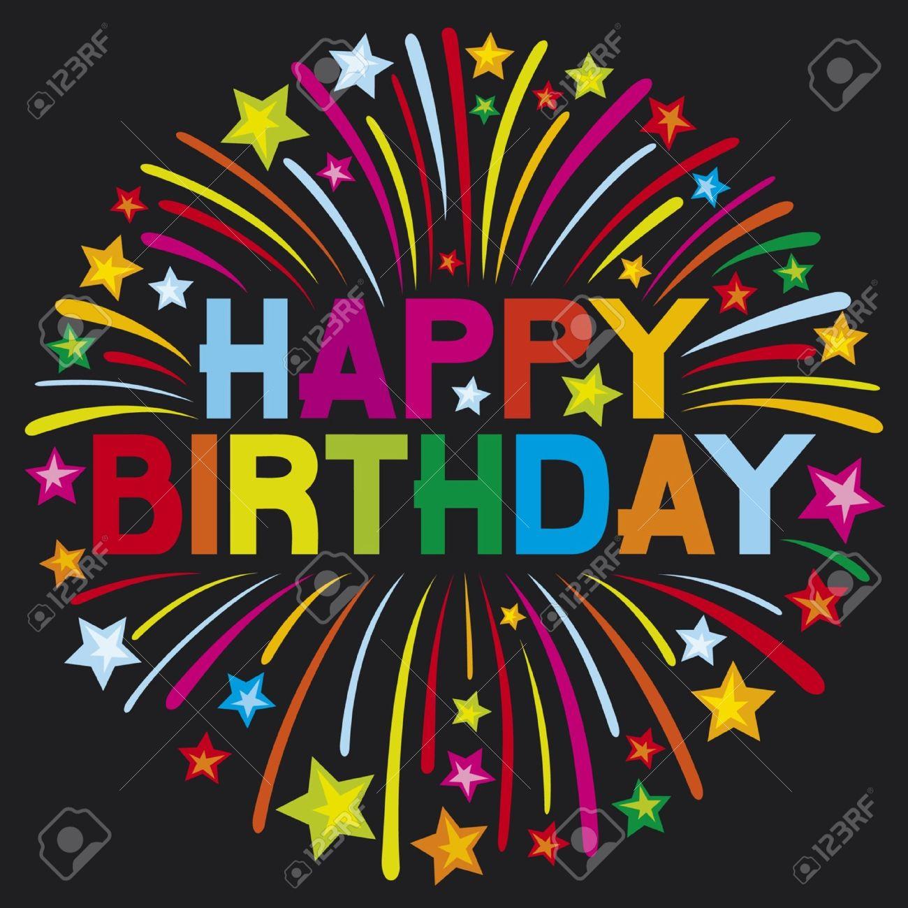happy birthday firework Stock Vector - 14992895