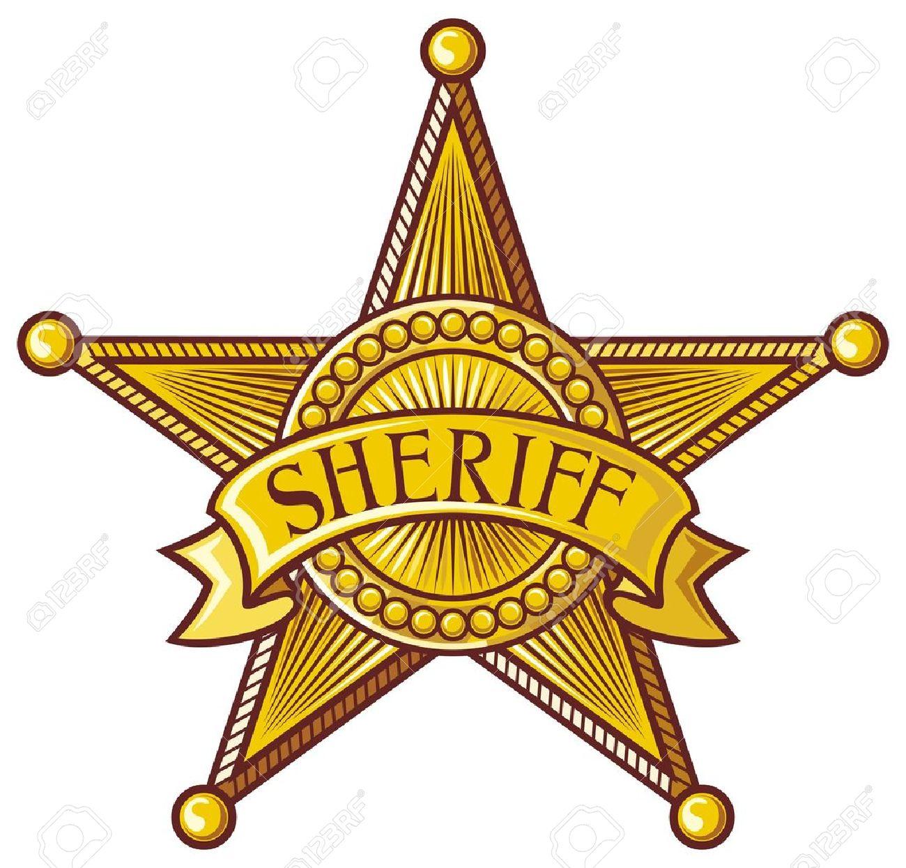 vector sheriff s star sheriff badge sheriff shield royalty free rh 123rf com deputy sheriff badge clipart sheriff badge clip art free