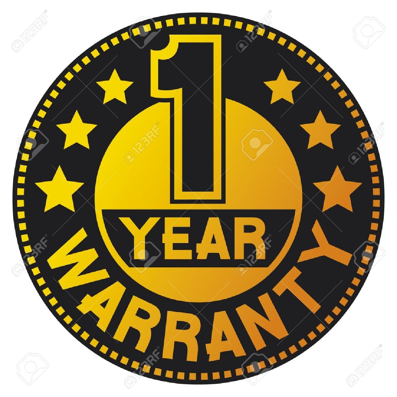 1 year warranty  one year warranty Stock Vector - 15039374