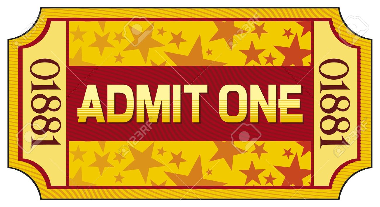 admit one ticket royalty free cliparts vectors and stock