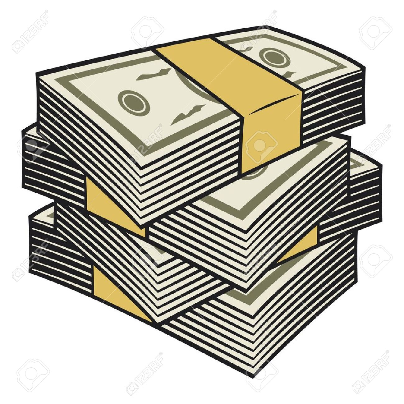 big stack of money royalty free cliparts vectors and stock rh 123rf com Woman with Money Clip Art free clipart stack of money