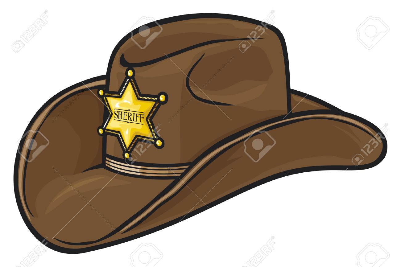 dfa5a2039c9 Old Western Sheriff Hat Stock Vector - 15099282