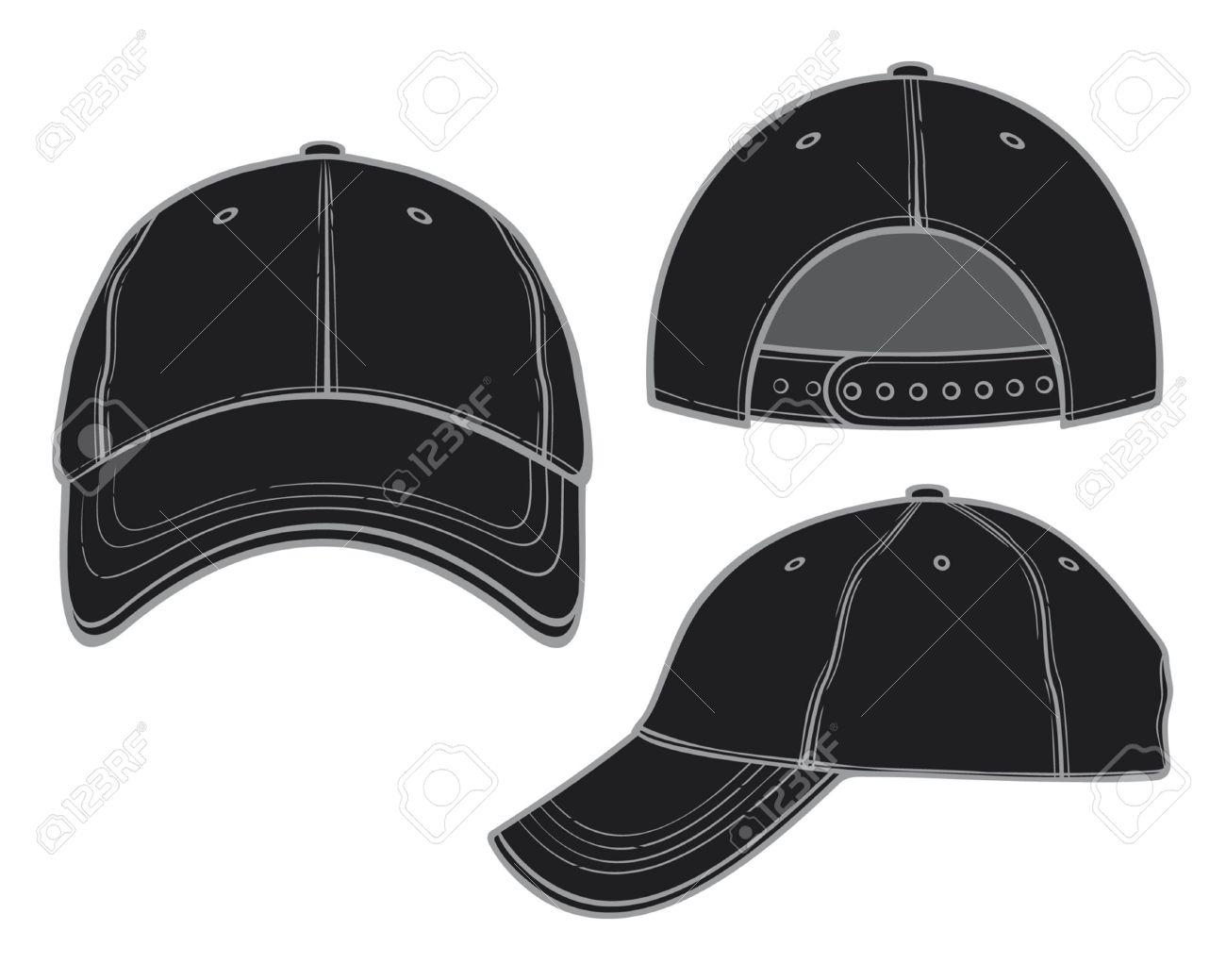 653957de01d black baseball cap Stock Vector - 15099259