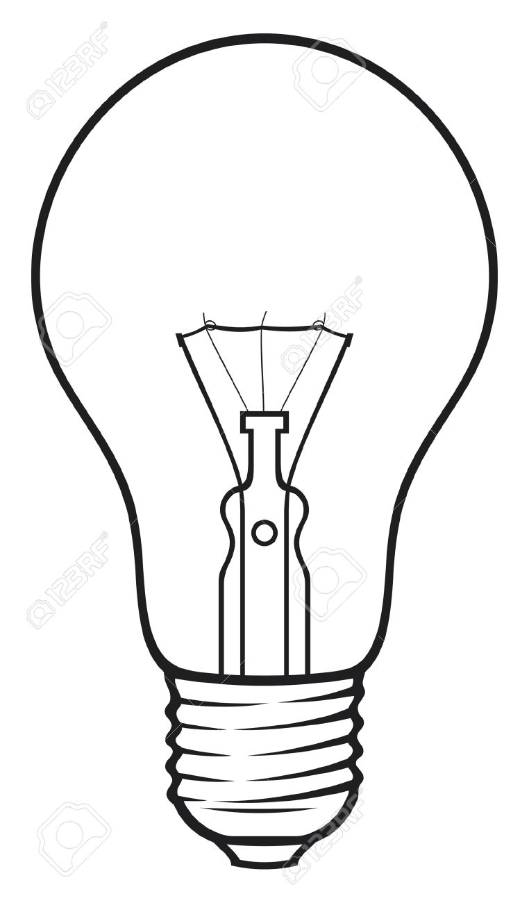 Light Bulb Classic Light Bulb Royalty Free Cliparts, Vectors, And ... for Lamp Bulb Drawing  110ylc