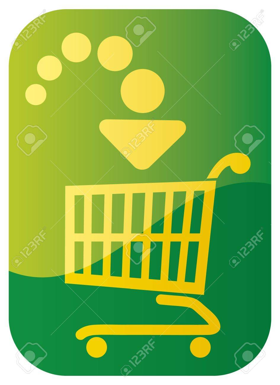 Add to cart button Stock Vector - 15227326