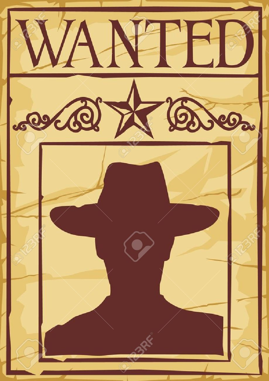 Wanted Poster Cowboy Silhouette Royalty Free Cliparts Vectors – Free Printable Wanted Poster