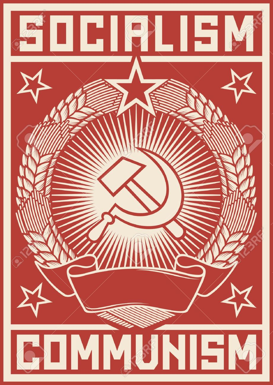 Socialism - Communism Poster Royalty Free Cliparts, Vectors, And ...