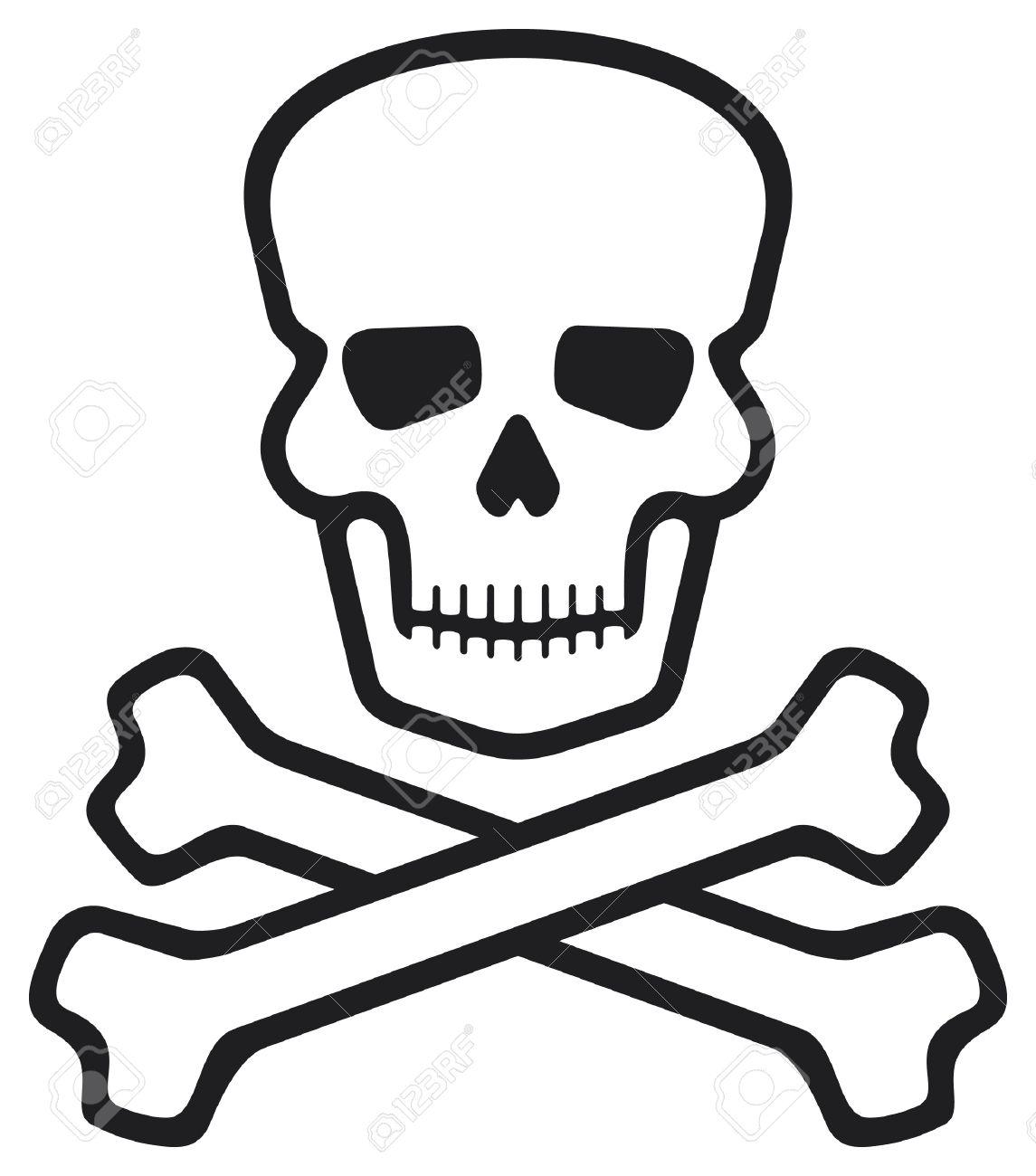 Schädel Und Knochen (Piraten-Symbol, Schädel Und Gekreuzten Knochen ...