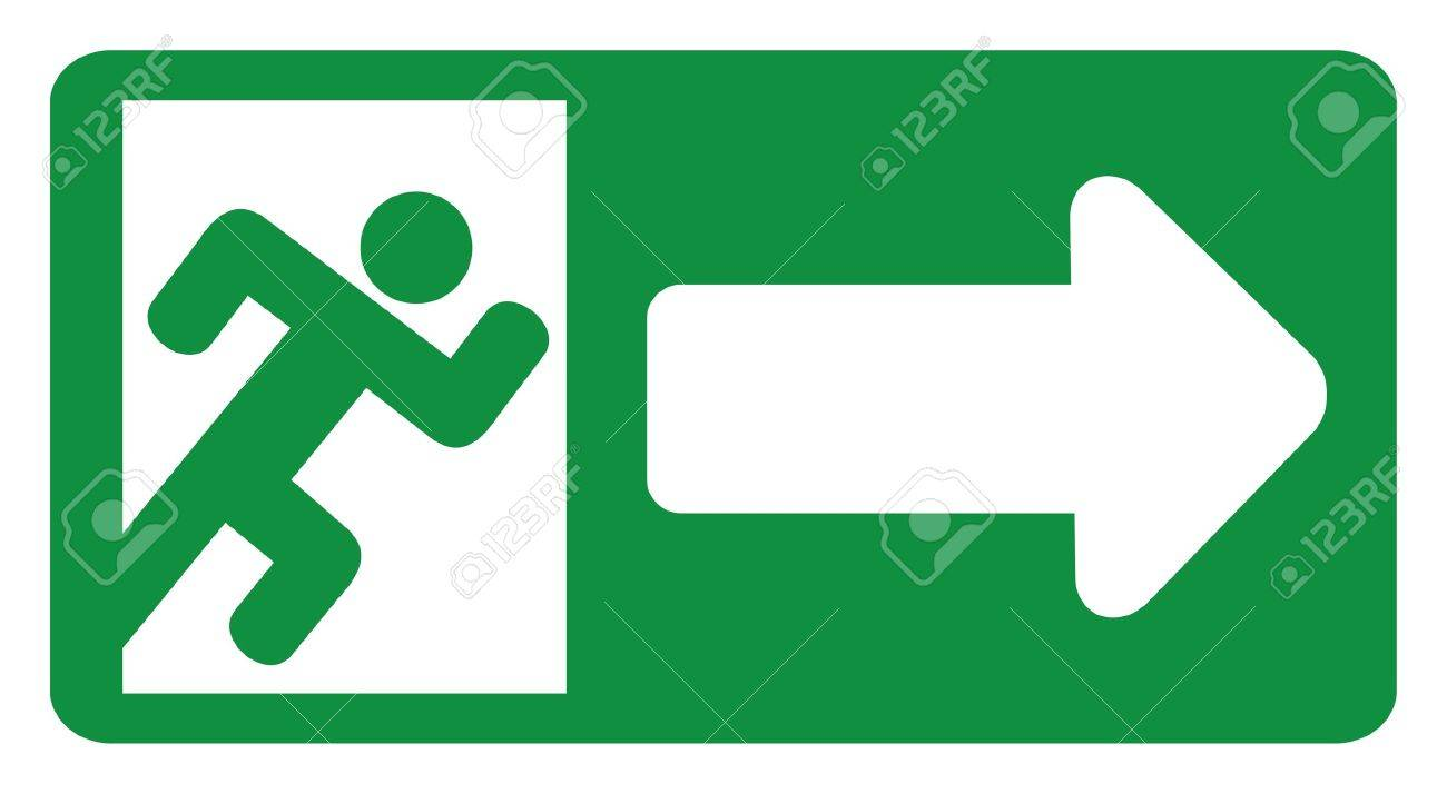 Emergency stop icon clipart emergency off - Emergency Exit Green Exit Emergency Sign Emergency Exit Door Sign With Human Figure