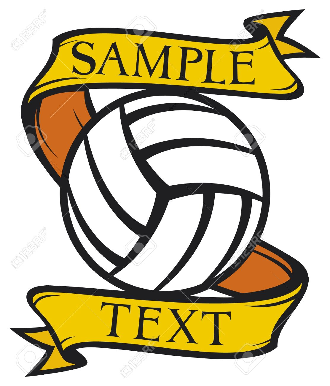volleyball club emblem  label, design Stock Vector - 15561142