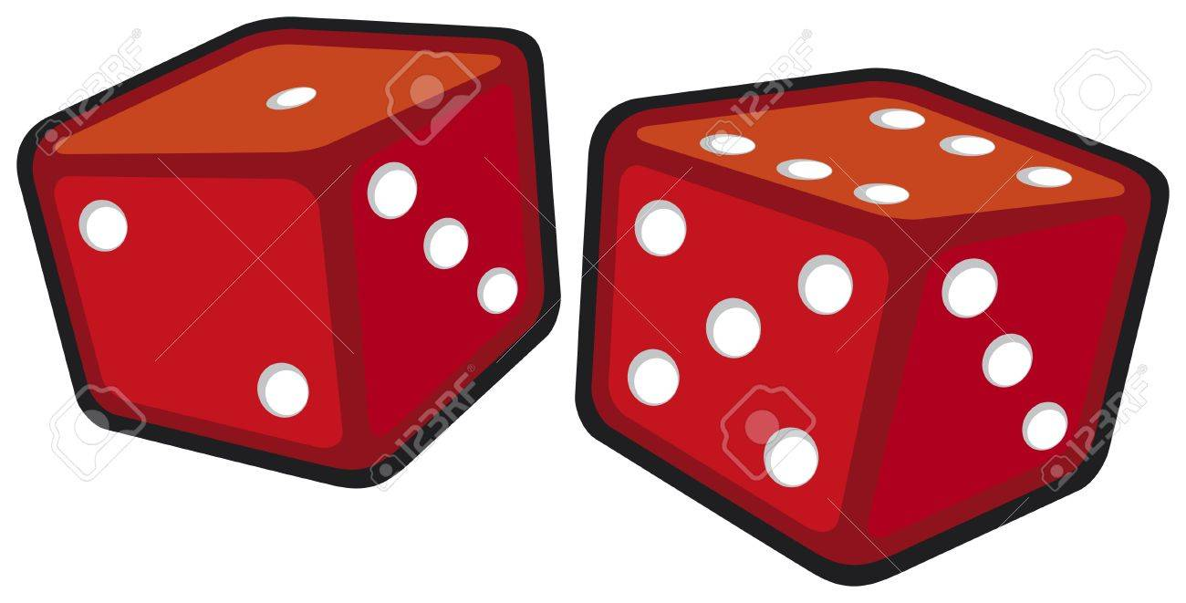 red dices Stock Vector - 15575587
