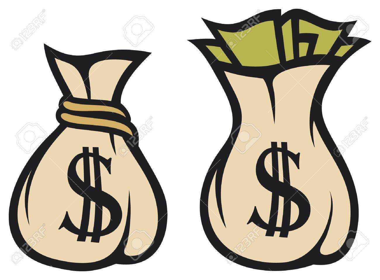 Money bag with dollar sign vector illustration Stock Vector - 15594648