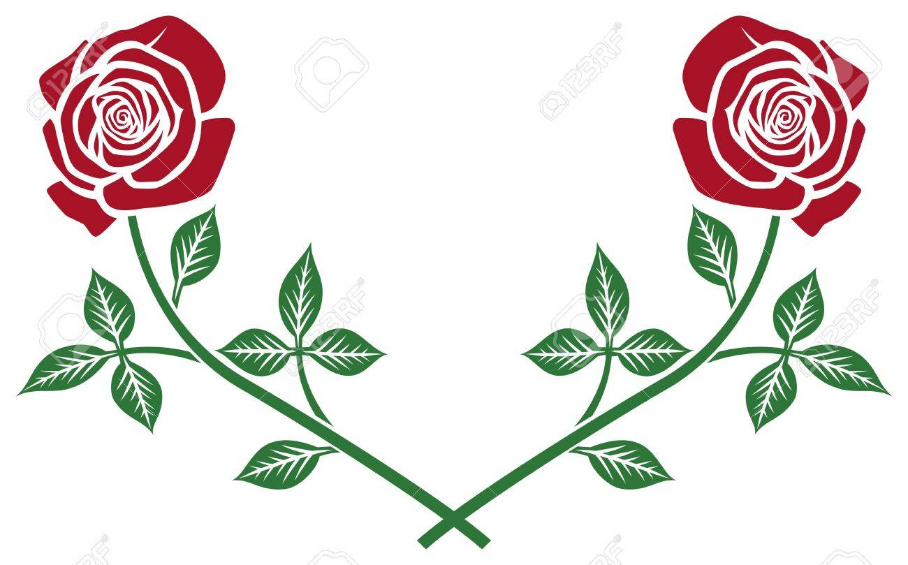 red roses wreath Stock Vector - 15639769