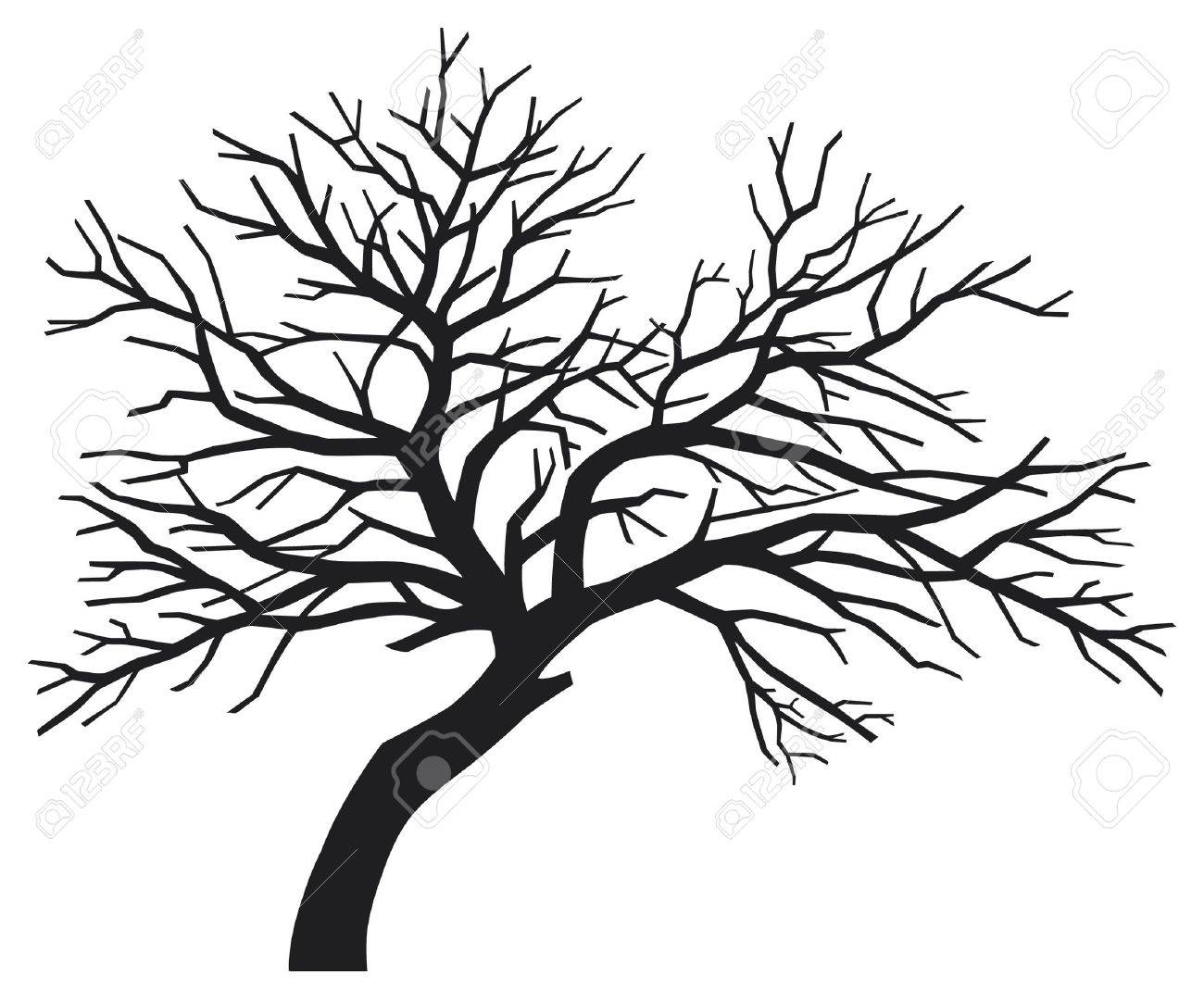 Scary Bare Black Tree Silhouette Tree Without Leaves Tree Silhouette Royalty Free Cliparts Vectors And Stock Illustration Image 15840833