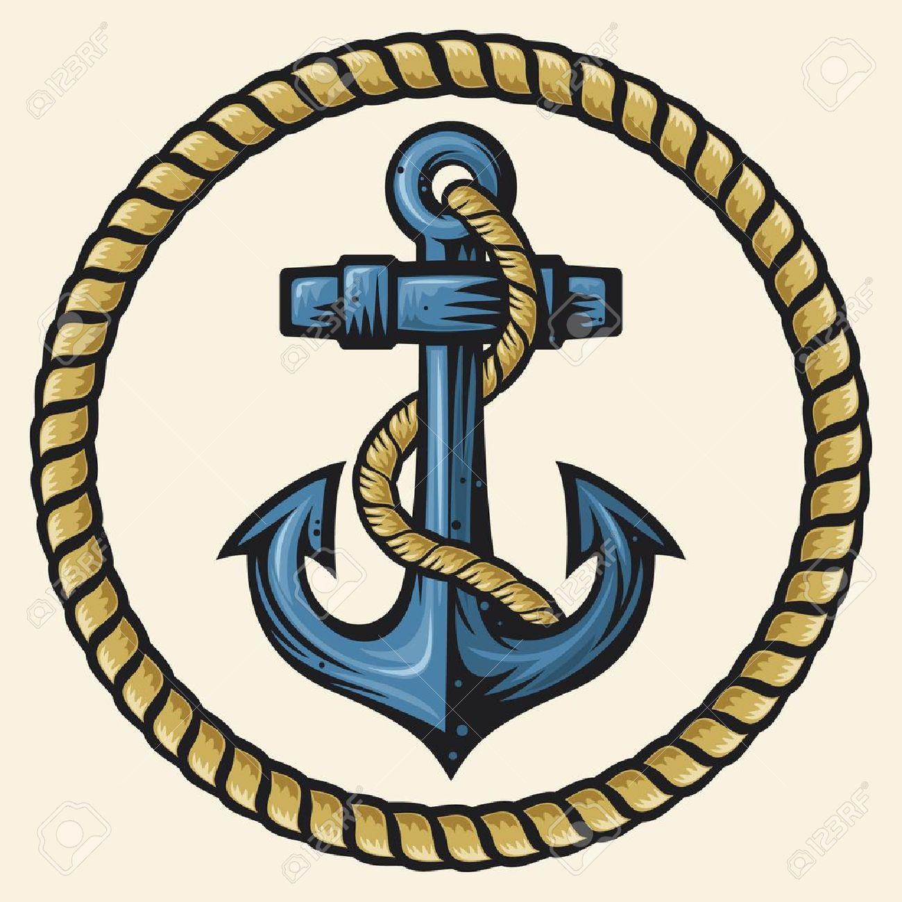 錨とロープの設計のイラスト素材ベクタ Image 15867538