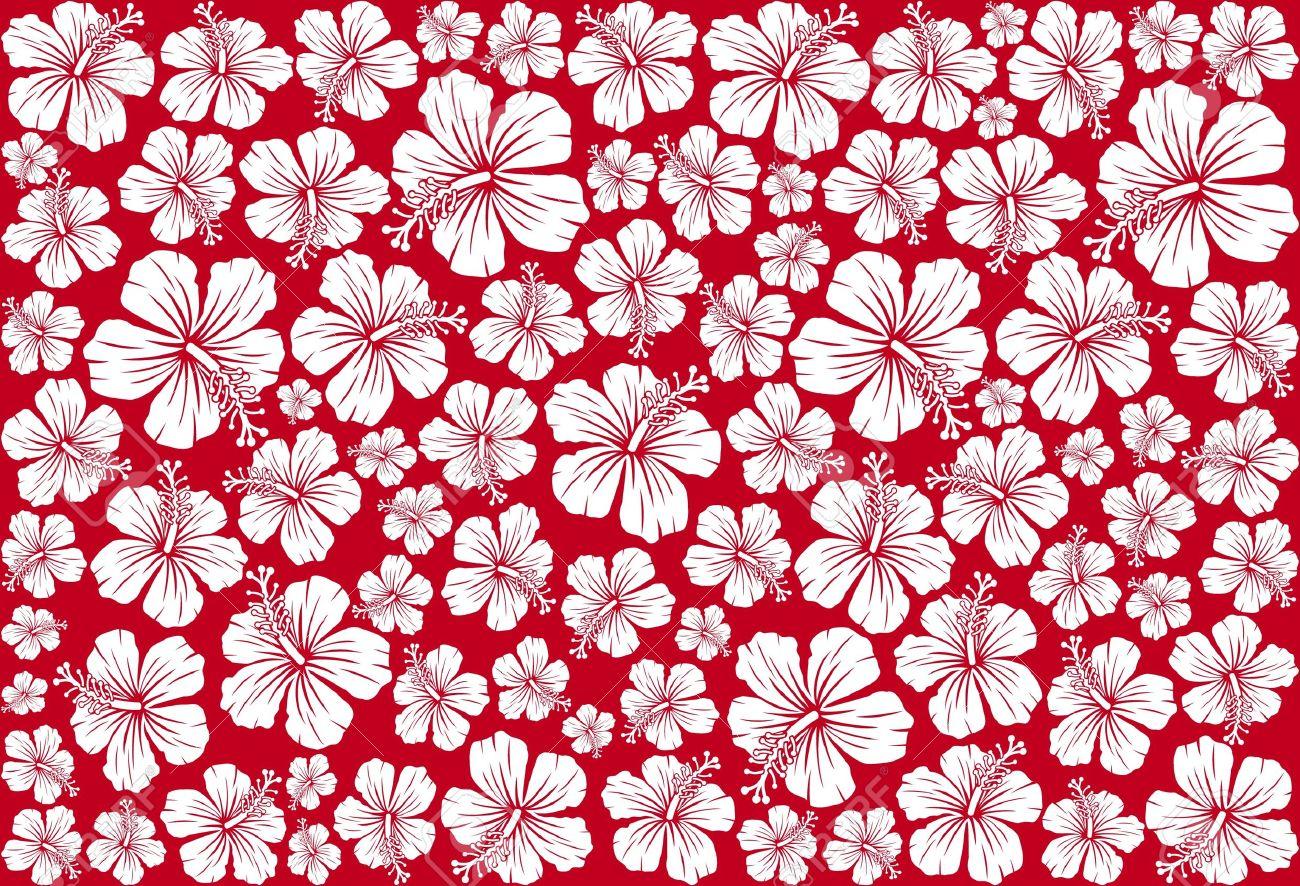 元の壁紙 ハワイ 柄 花の画像