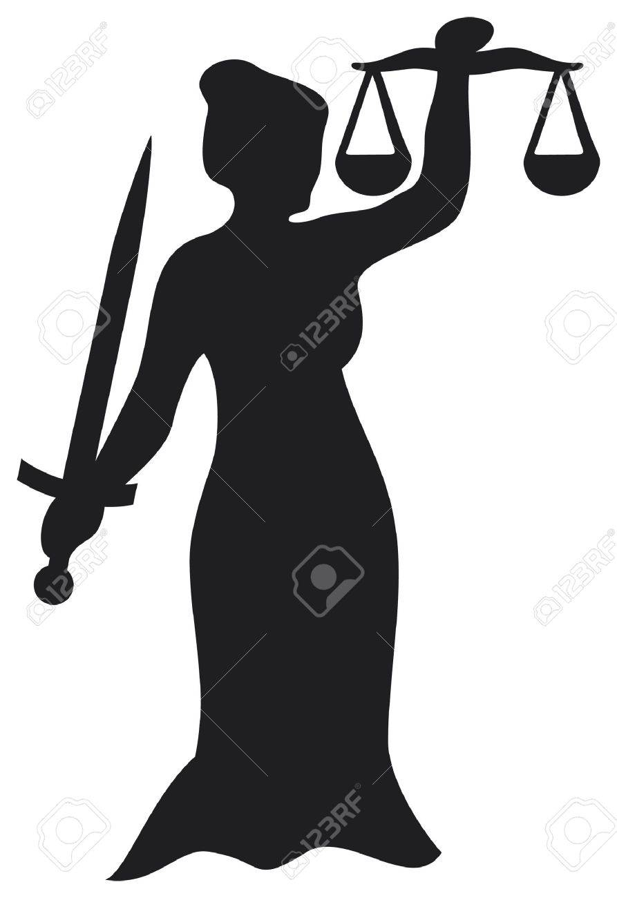 justice statue, lady justice  themis, femida - a goddess of justice Stock Vector - 15867528
