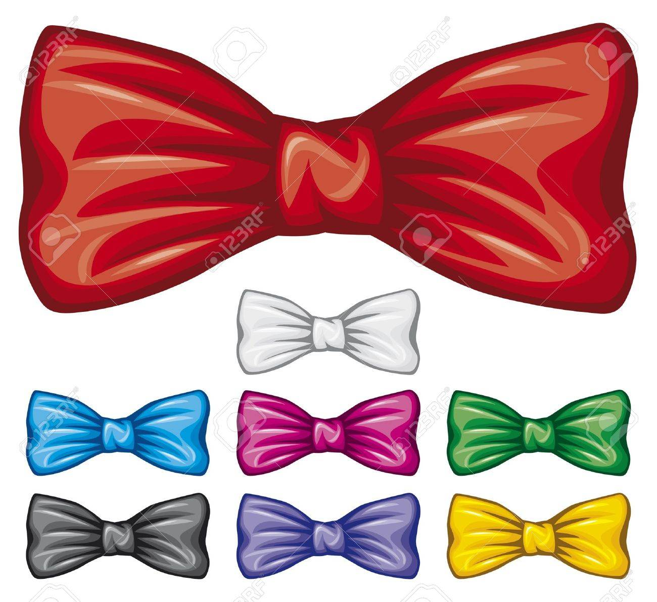 bow ties collection  bow tie set Stock Vector - 15870998