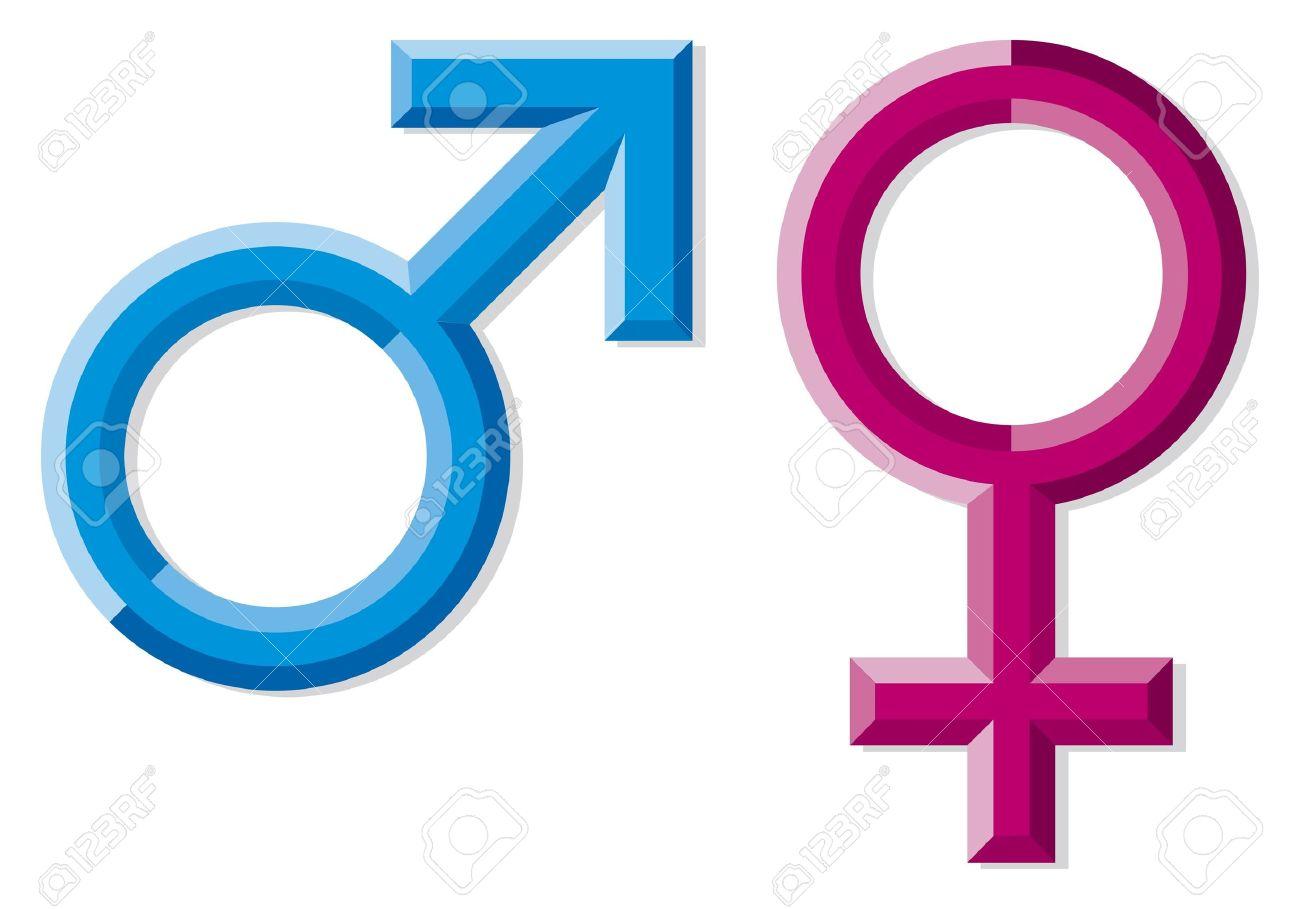 Hombres Y Mujeres Símbolos Y Signos De Género Hombres Mujeres